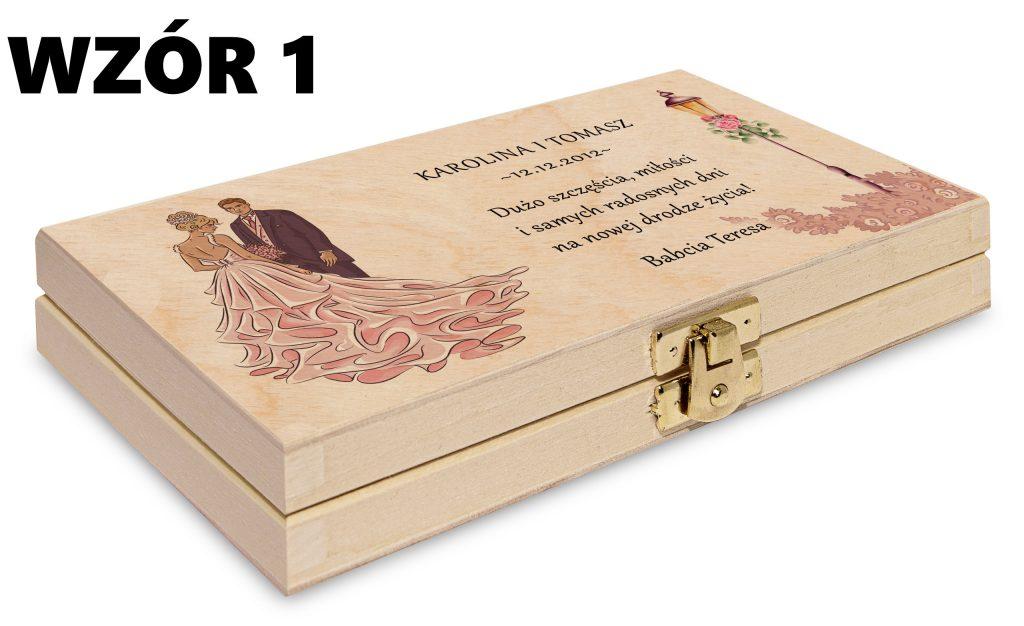 ślubne pudełko na pieniądze - wzór 1