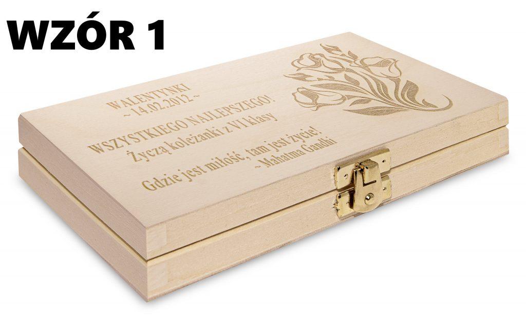 Pudełko na Walentynki - wzór 1
