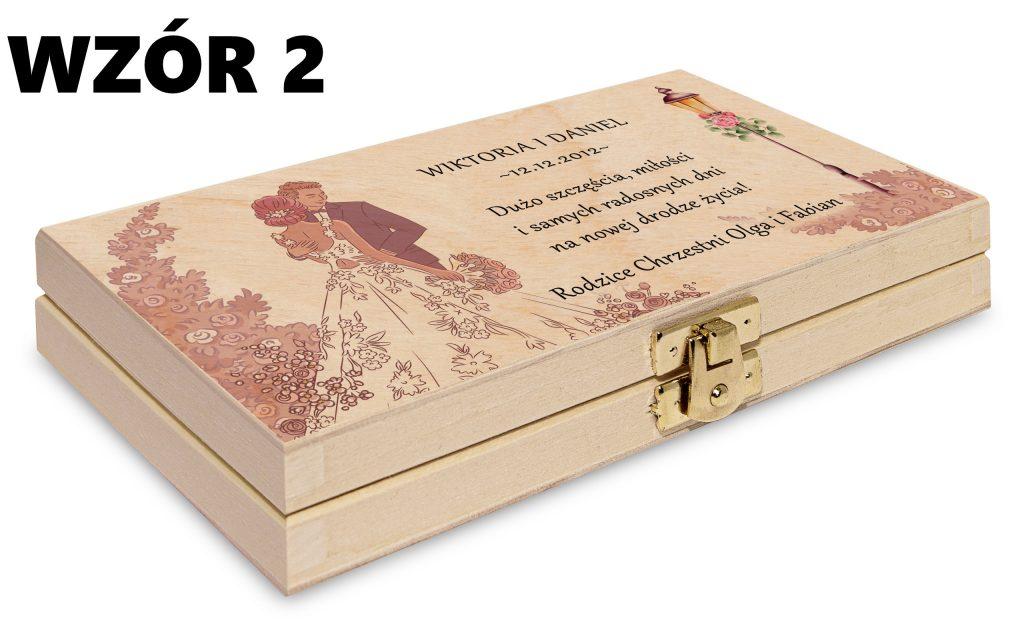ślubne pudełko na pieniądze - wzór 2