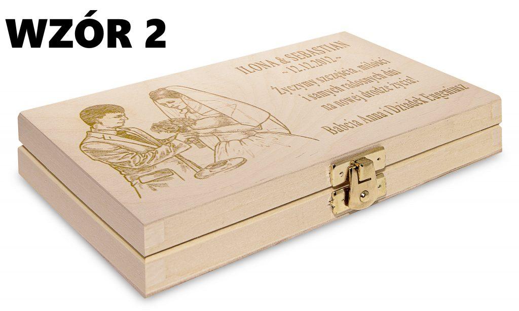 Ślubne pudełko na banknoty - wzór 2