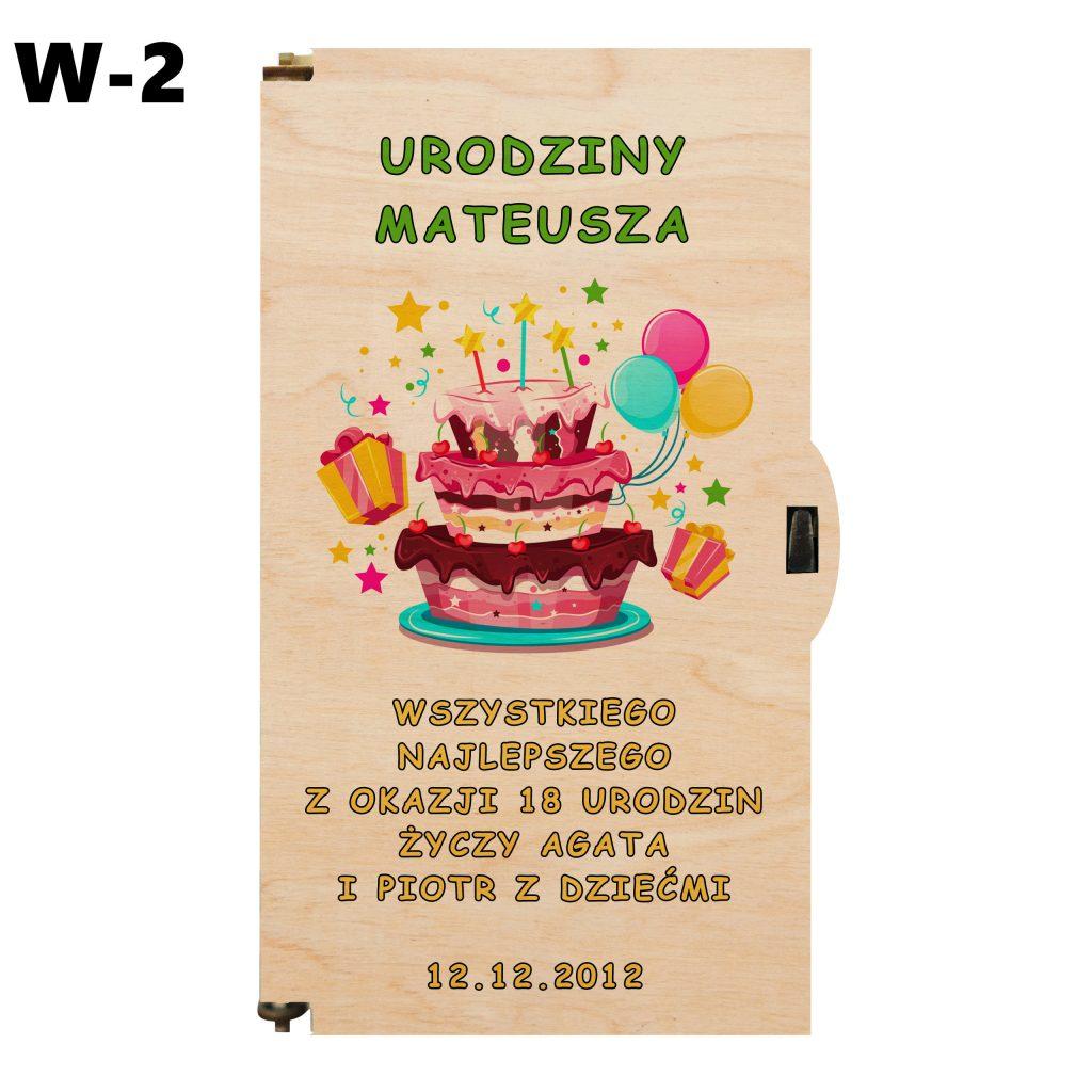 pudełko na 18 urodziny - wzór 2