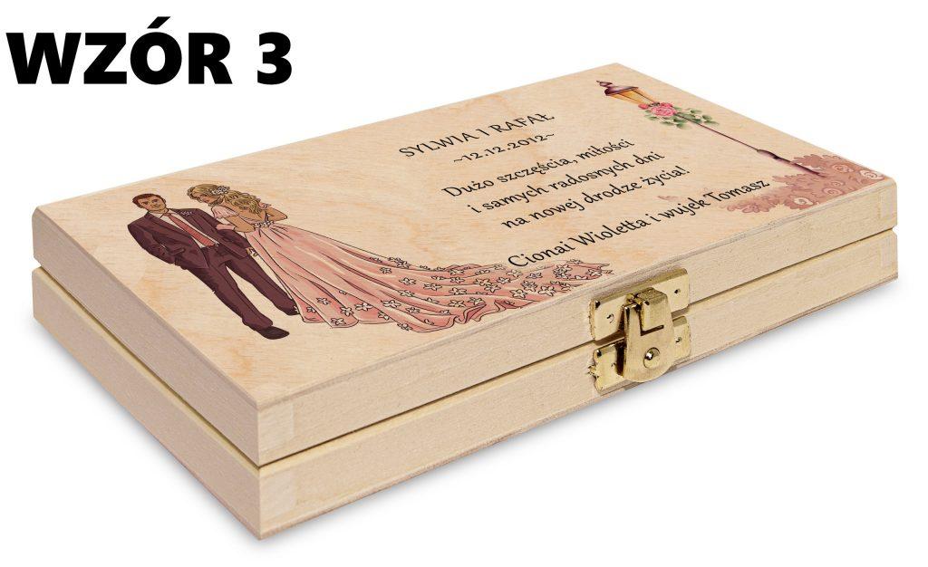 ślubne pudełko na pieniądze - wzór 3