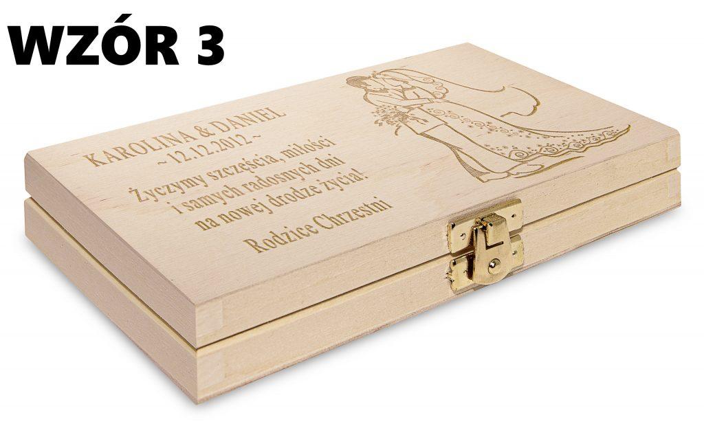 Ślubne pudełko na banknoty - wzór 3