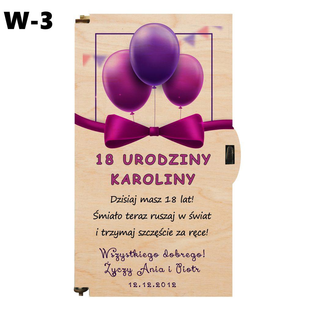 pudełko na 18 urodziny - wzór 3
