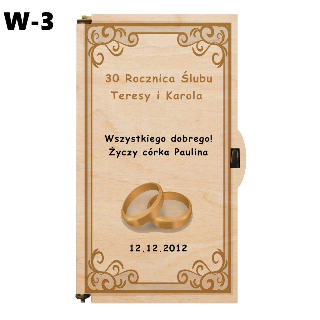Pudełko na Rocznicę Ślubu - wzór 3