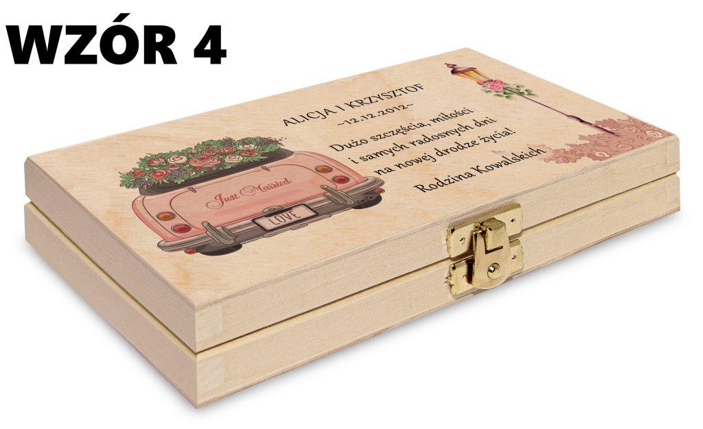 ślubne pudełko na pieniądze - wzór 4