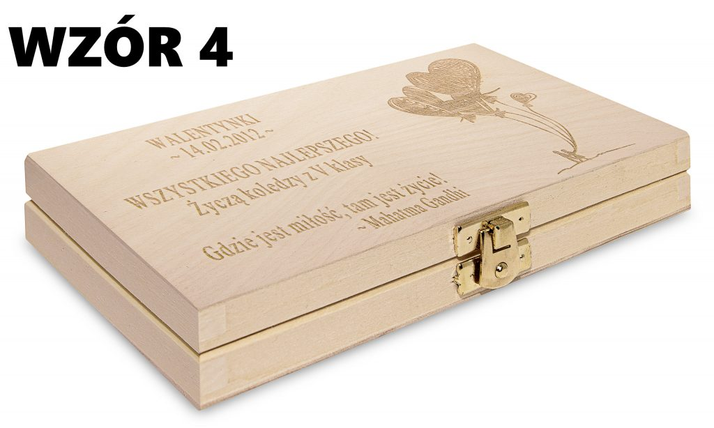 Pudełko na Walentynki - wzór 4