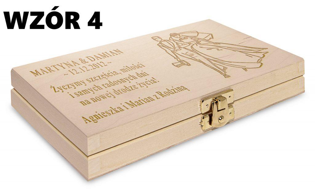 Ślubne pudełko na banknoty - wzór 4