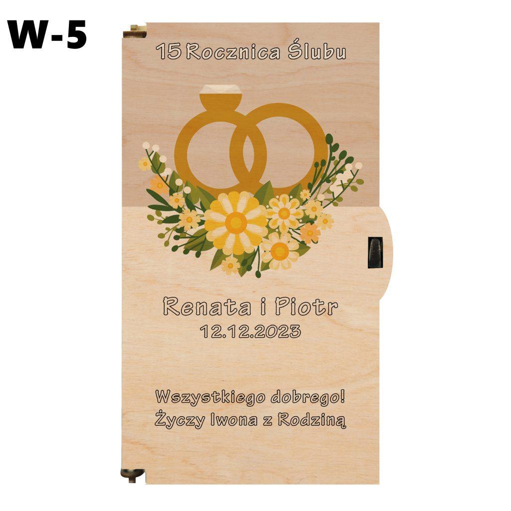 Pudełko na Rocznicę Ślubu - wzór 5