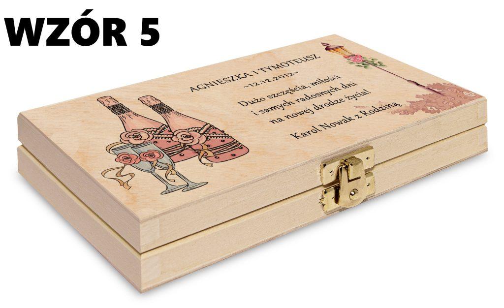 ślubne pudełko na pieniądze - wzór 5