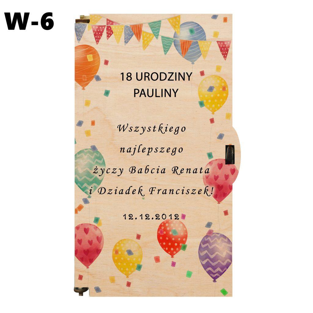 pudełko na 18 urodziny - wzór 6