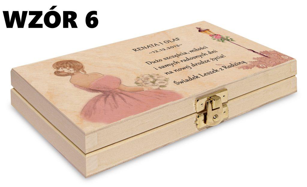 ślubne pudełko na pieniądze - wzór 6