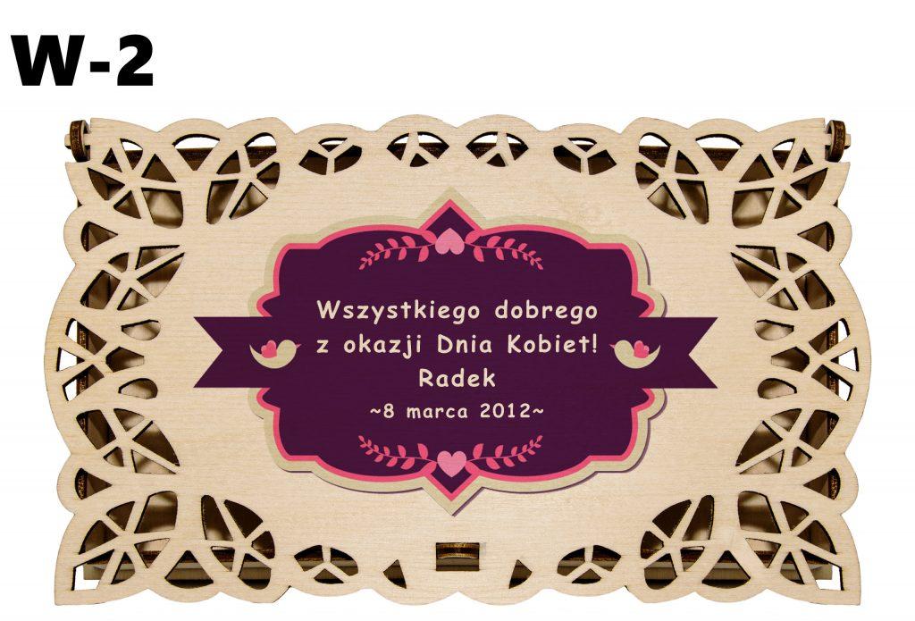 Pudełko ażurowe dla Kobiety - wzór 2