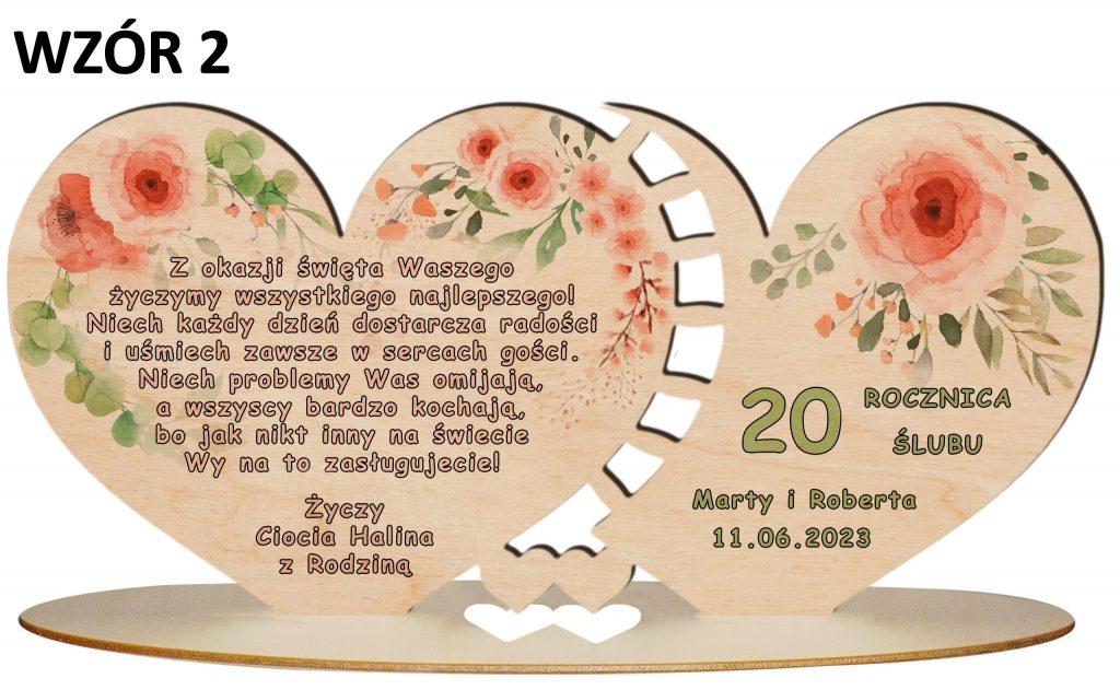 Prezent na rocznicę ślubu - wzór 2