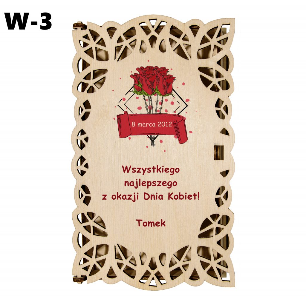 Pudełko ażurowe dla Kobiety - wzór 3