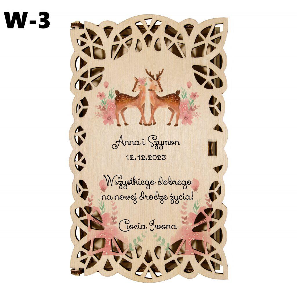 Ślubny prezent - pudełko wzór 3