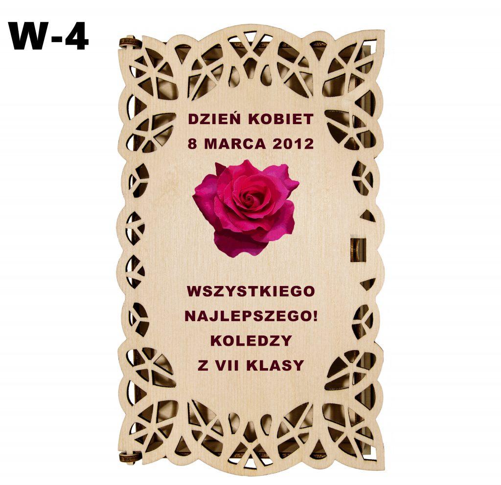Pudełko ażurowe dla Kobiety - wzór 4