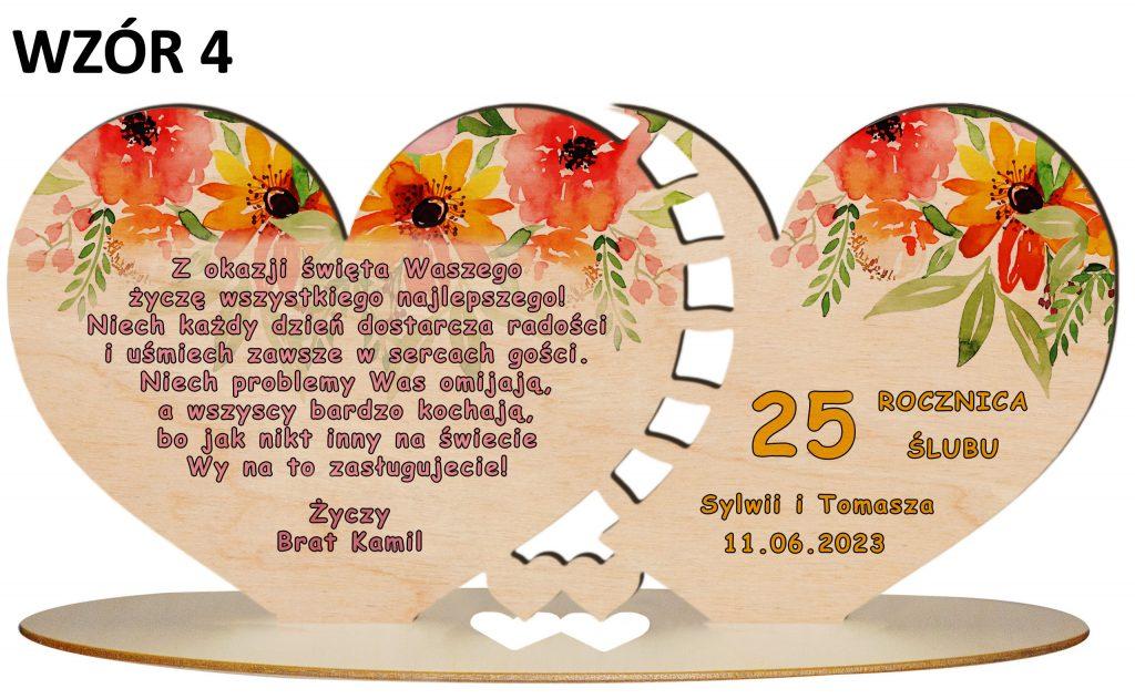 Prezent na rocznicę ślubu - wzór 4