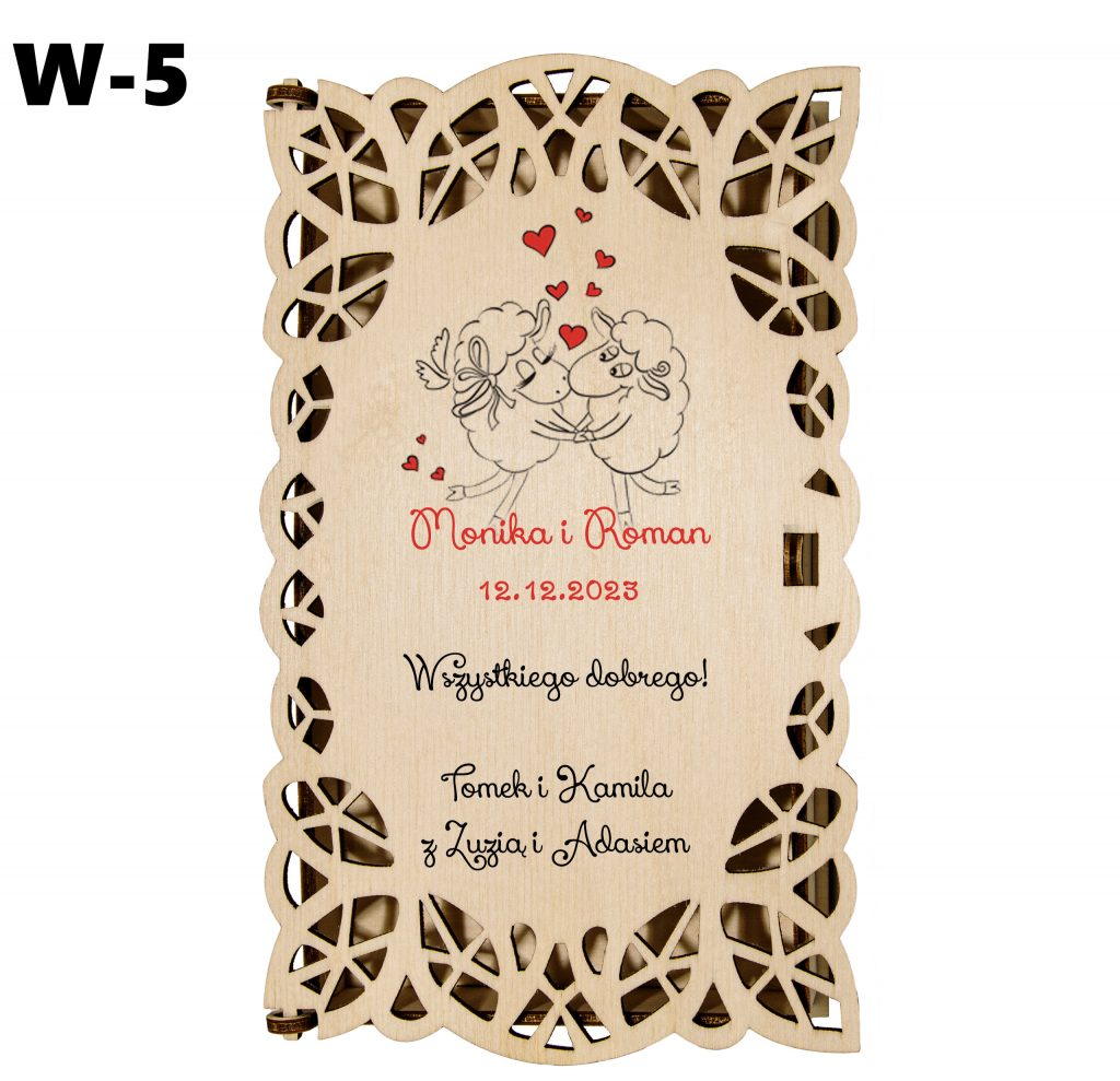 Ślubny prezent - pudełko wzór 5