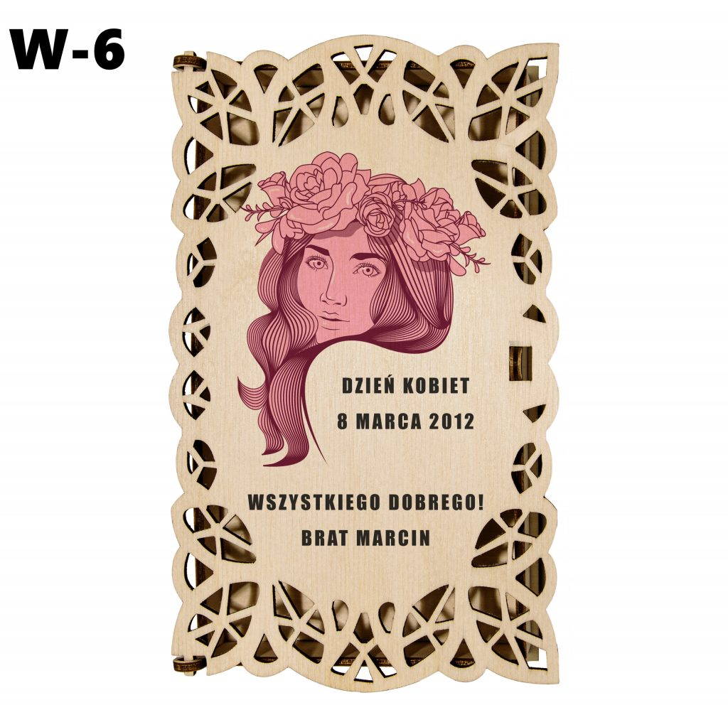 Pudełko ażurowe dla Kobiety - wzór 6