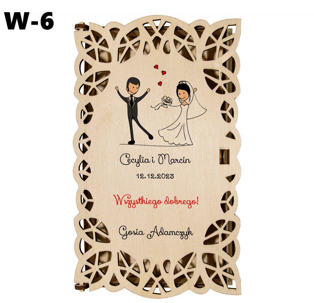 Ślubny prezent - pudełko wzór 6