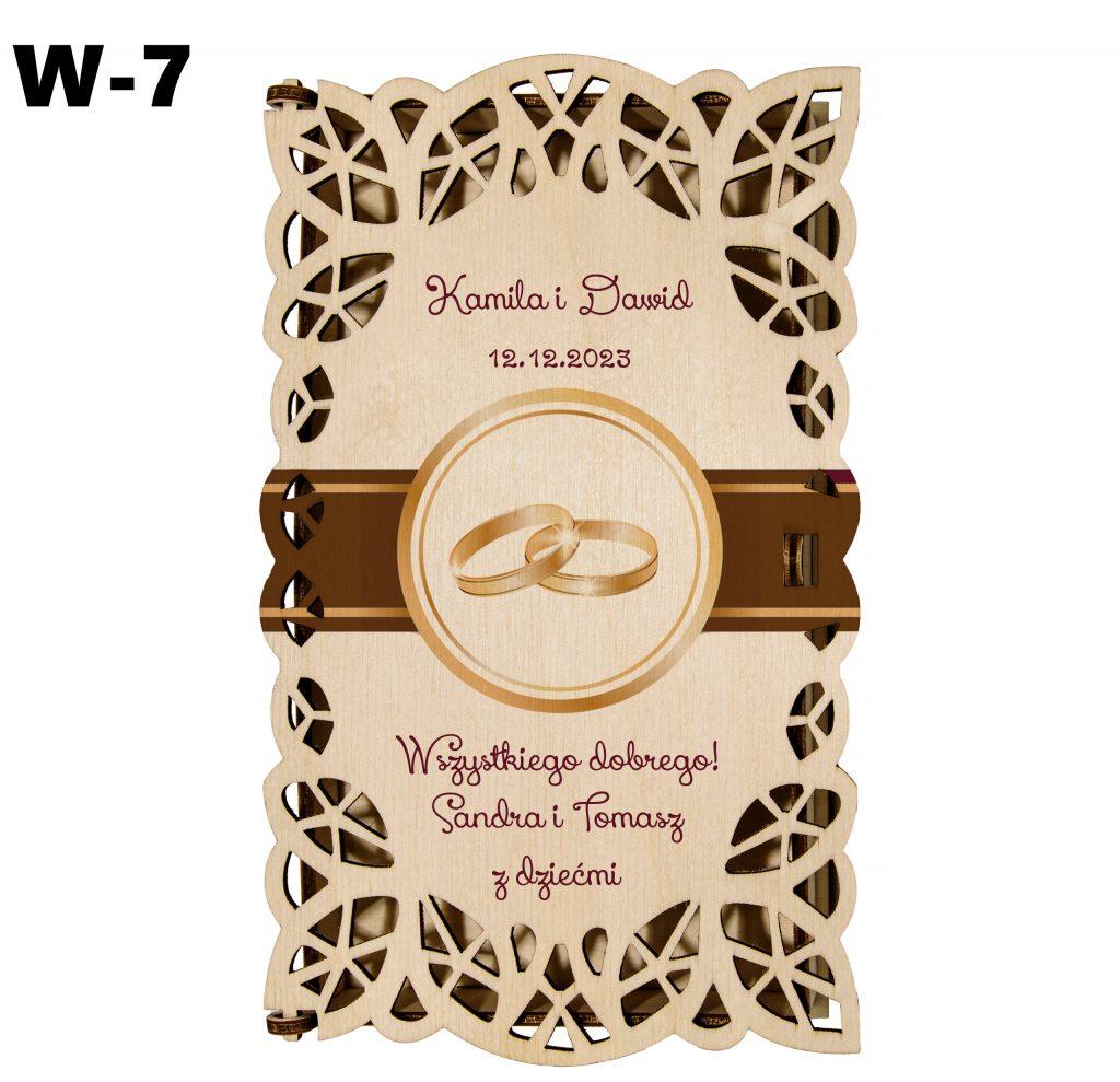 Ślubny prezent - pudełko wzór 7