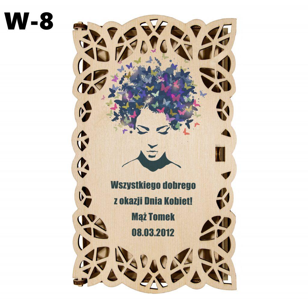 Pudełko ażurowe dla Kobiety - wzór 8