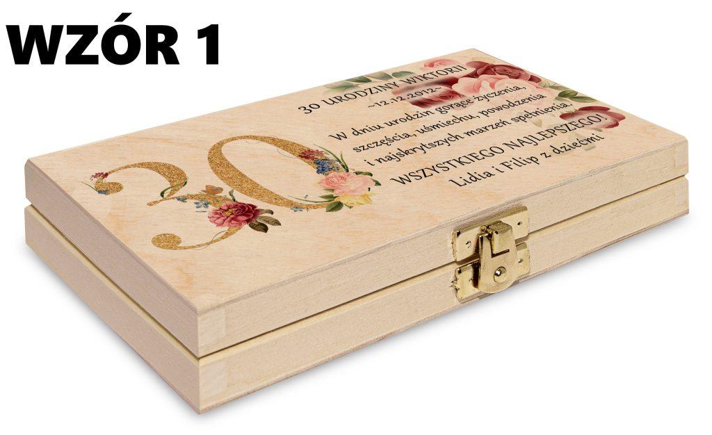 Pudełko na pieniądze - wzór 1