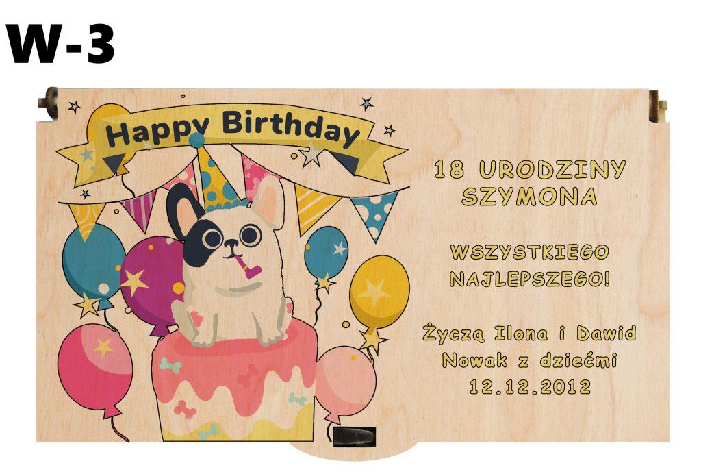 Pudełko na urodziny - wzór 3