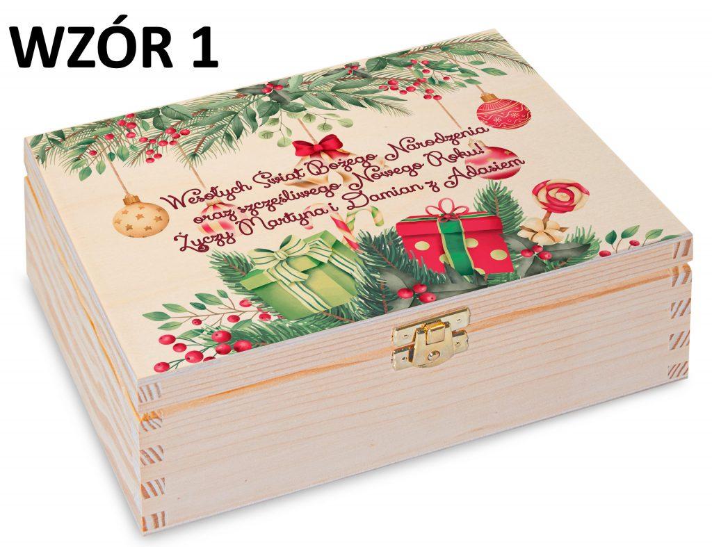 Boże Narodzenie - pudełko na herbatę wzór 1