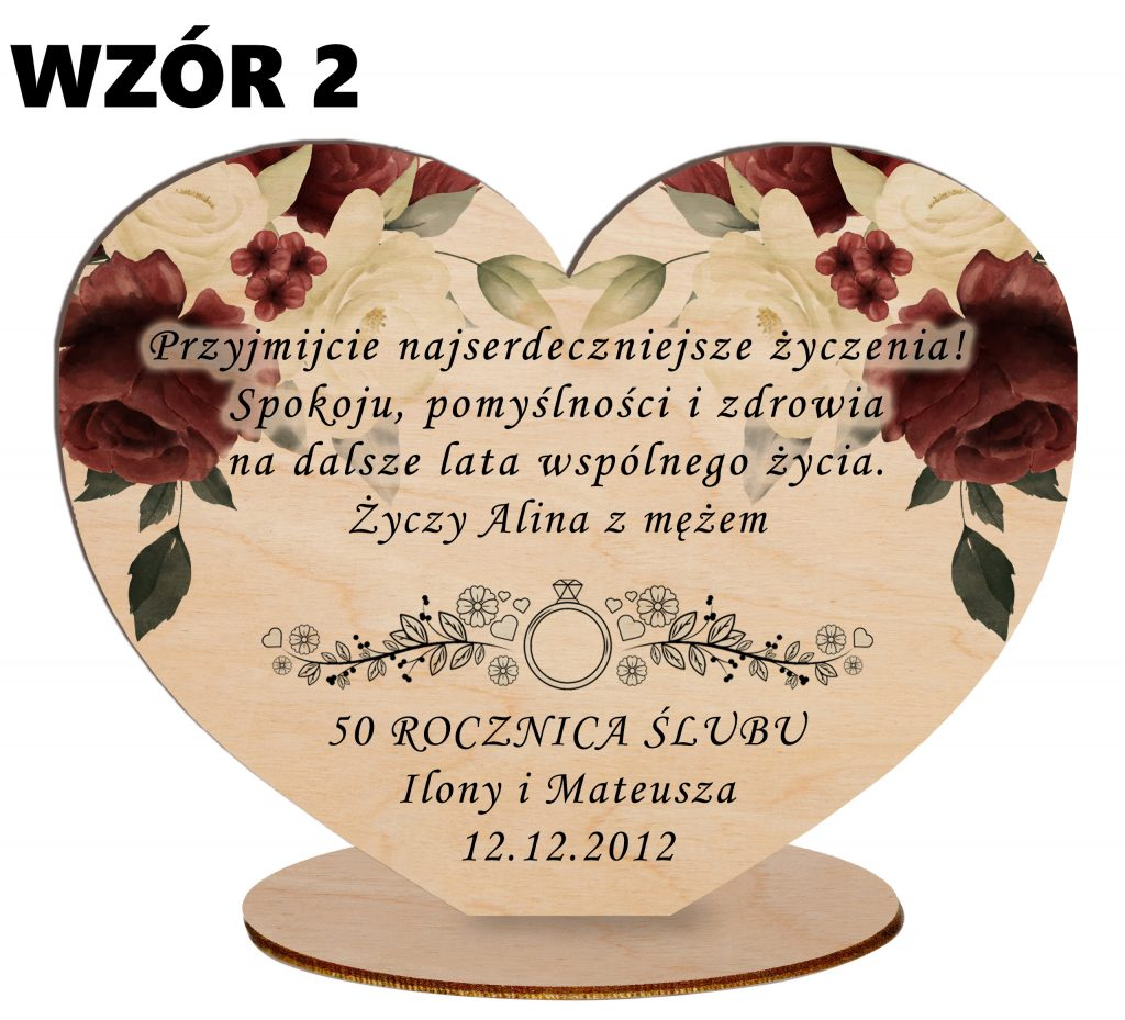 Pamiątka na Rocznicę Ślubu - wzór 2