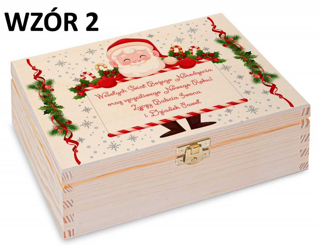 Boże Narodzenie - pudełko na herbatę wzór 2