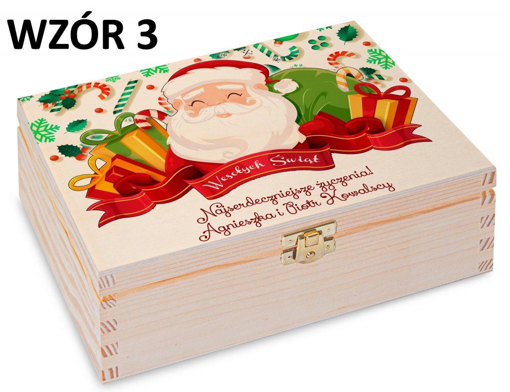 Boże Narodzenie - pudełko na herbatę wzór 3