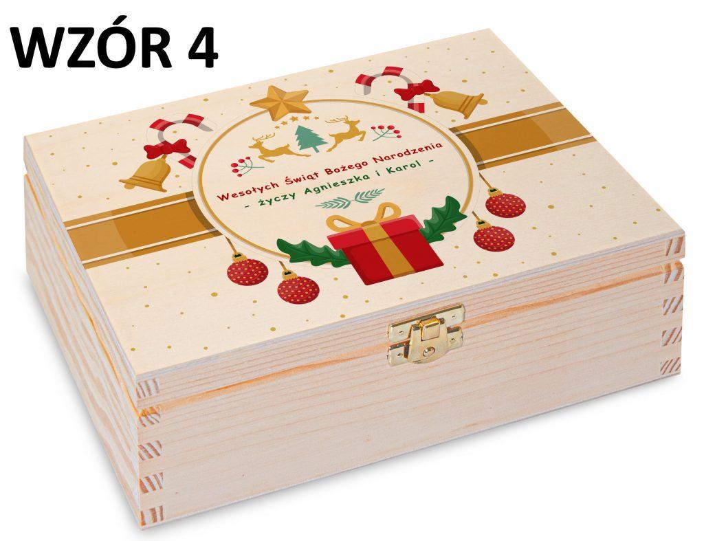 Boże Narodzenie - pudełko na herbatę wzór 4
