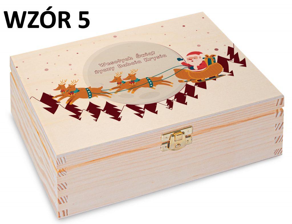 Boże Narodzenie - pudełko na herbatę wzór 5
