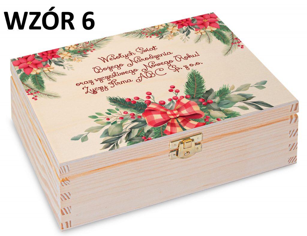 Boże Narodzenie - pudełko na herbatę wzór 6