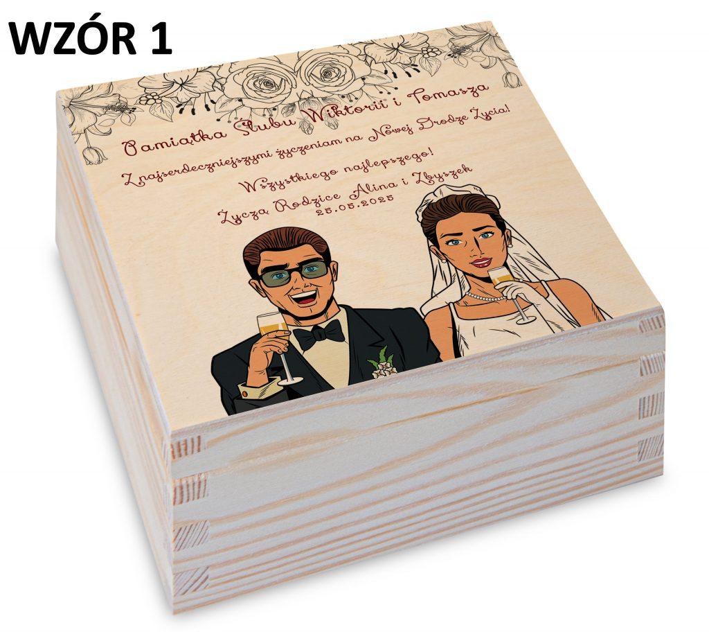 prezent na ślub - pudełko wzór 1