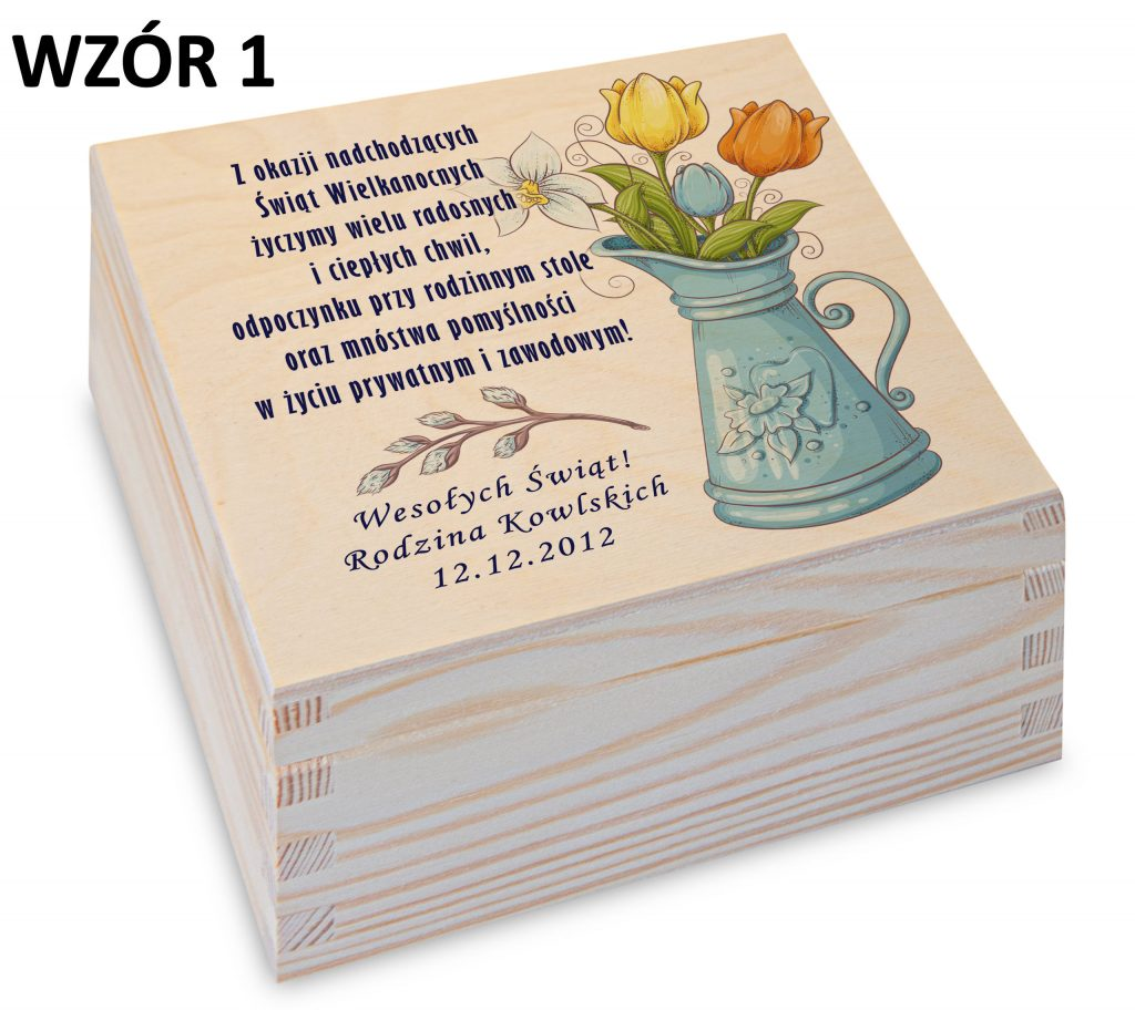 Wielkanoc - pudełko na herbatę wzór 1