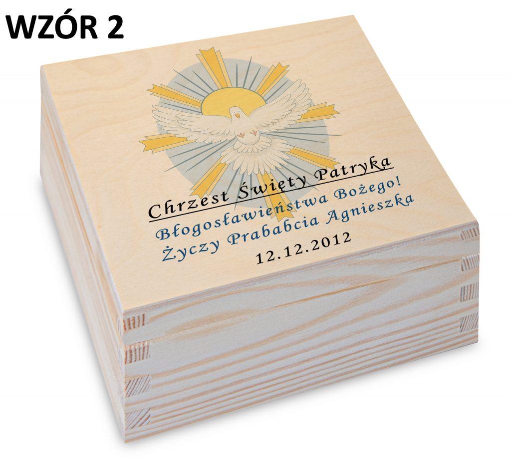 Chrzest - pudełko na herbatę wzór 2