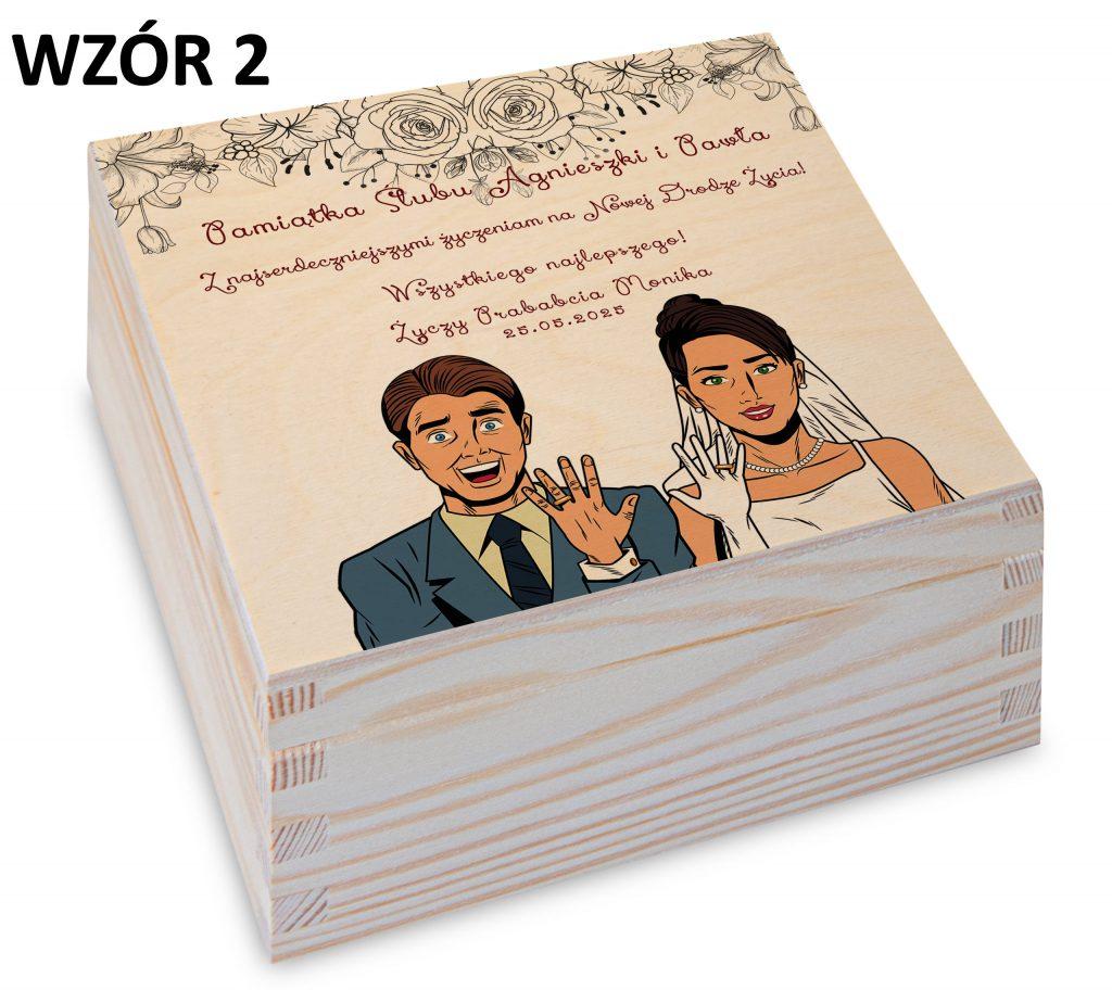 prezent na ślub - pudełko wzór 2