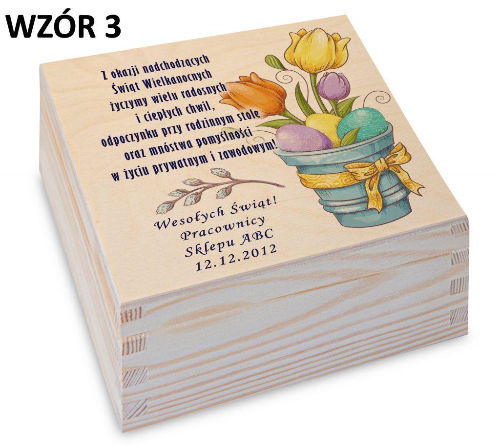 Wielkanoc - pudełko na herbatę wzór 3