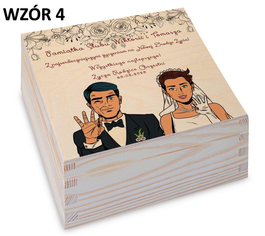 prezent na ślub - pudełko wzór 4