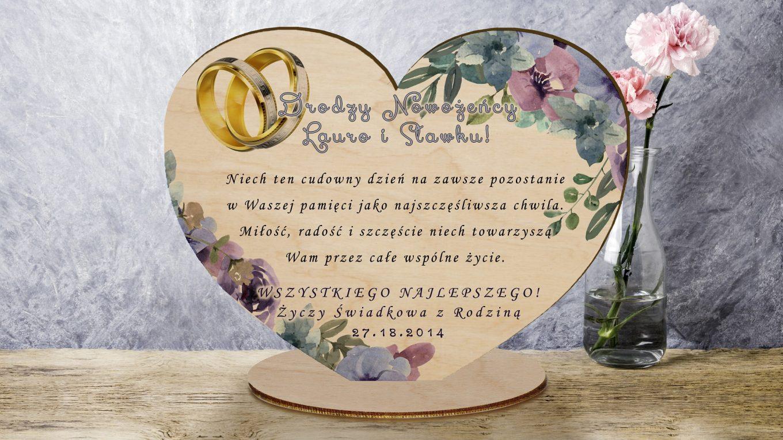 Pamiątka ślubna dla Pary Młodej