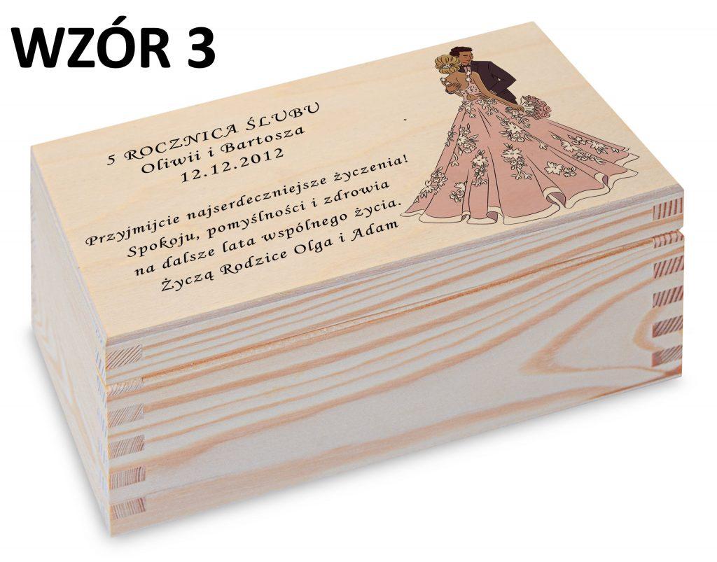 Rocznica Ślubu - pamiątka wzór 3