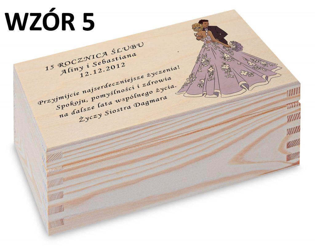 Rocznica Ślubu - pamiątka wzór 5
