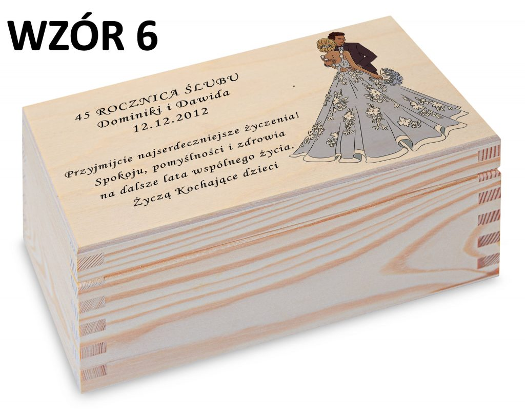 Rocznica Ślubu - pamiątka wzór 6