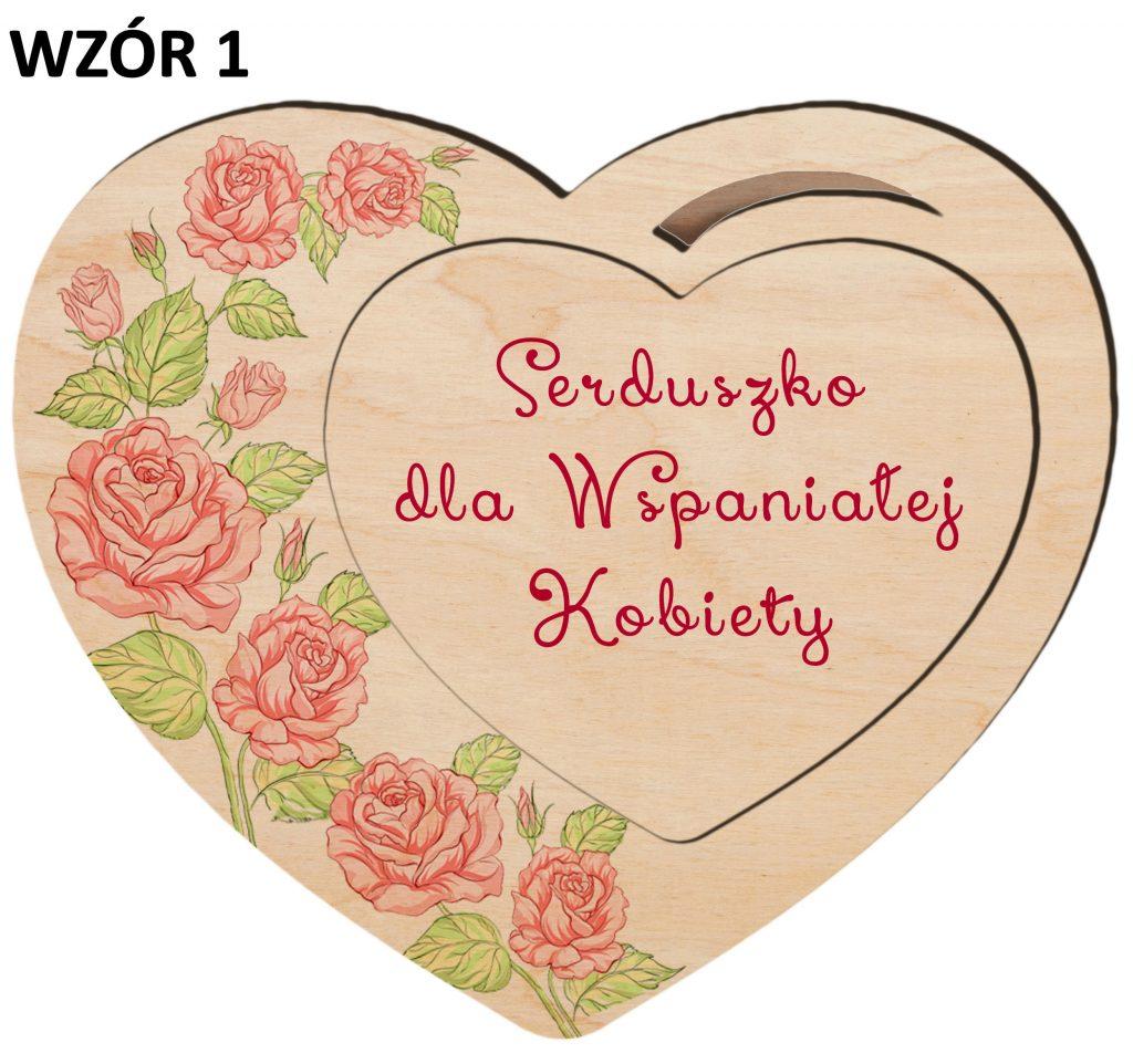 Magnesy na Dzień Kobiet - serce wzór 1