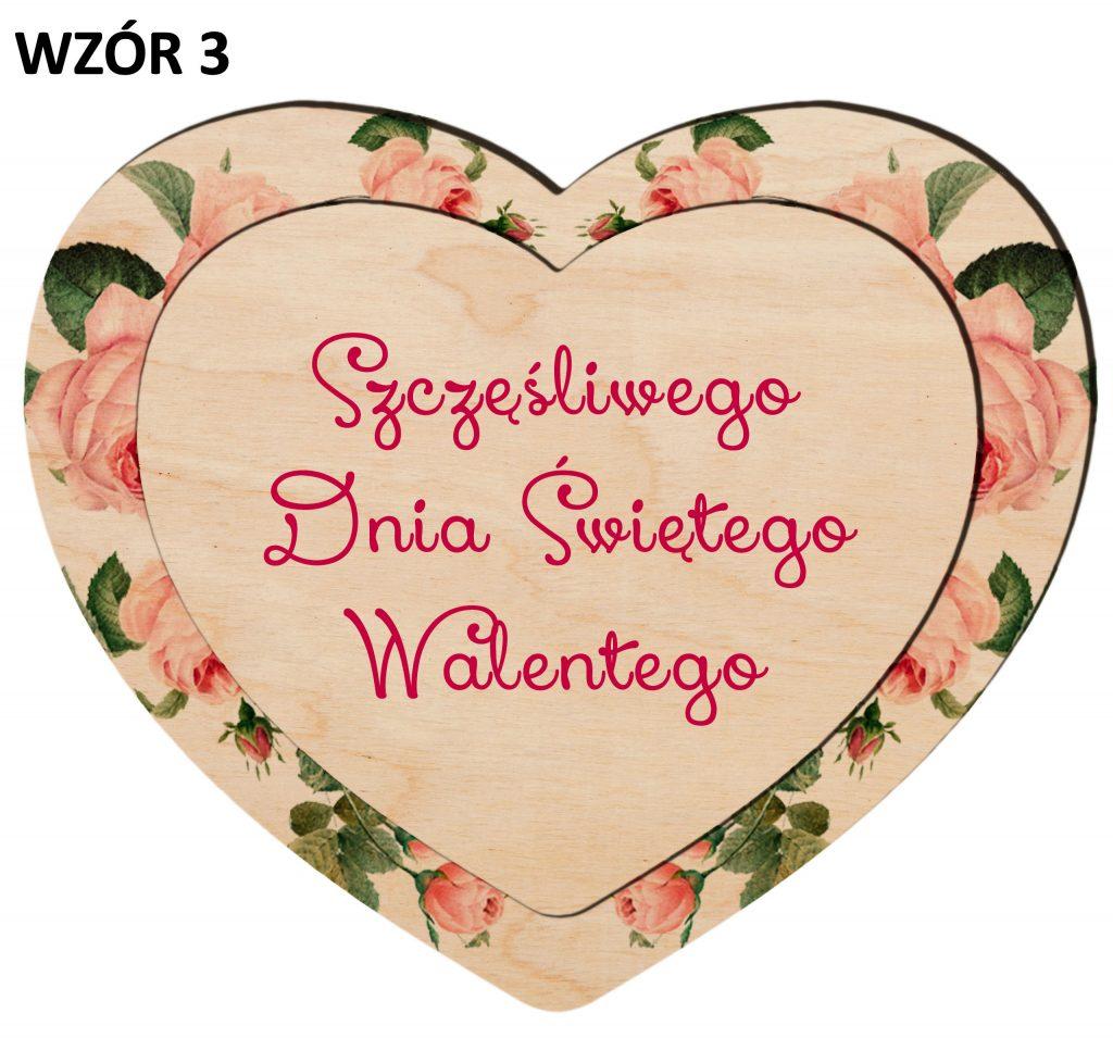 Serduszko na Walentynki - magnesy wzór 3