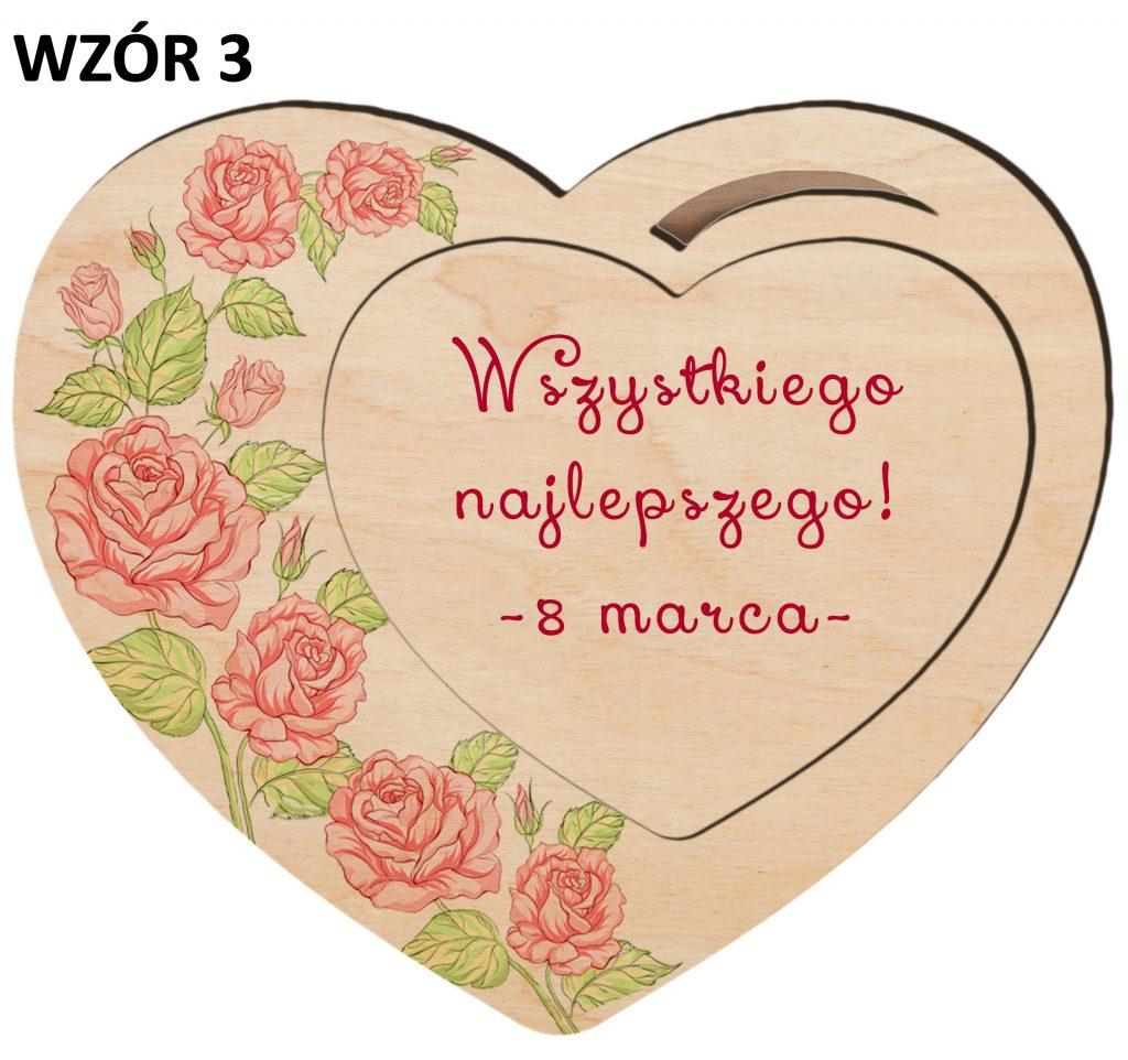 Magnesy na Dzień Kobiet - serce wzór 3