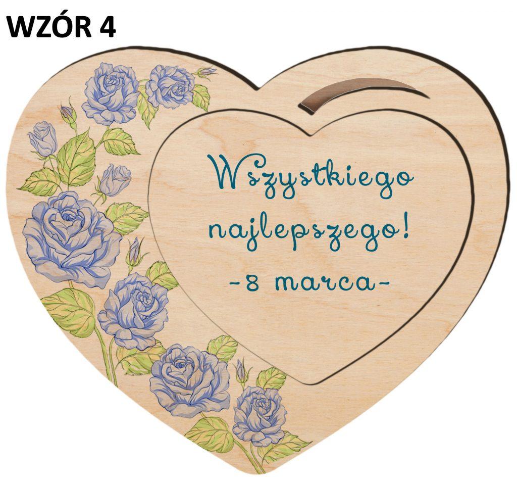 Magnesy na Dzień Kobiet - serce wzór 4